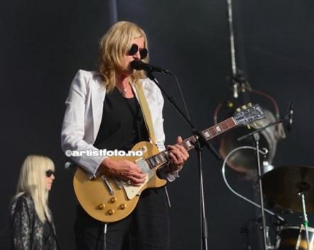 Anne Grete Preus fotografert på Odderøya Live, 12. juli 2014. Foto: Svein Erik Nomeland