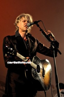 Den samfunnsengasjerte artisten Bob Geldof leverte bra i kveld
