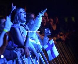 Publikum kom helt fra Finland for å se Hanson i Stavanger Se video fra piten under her: