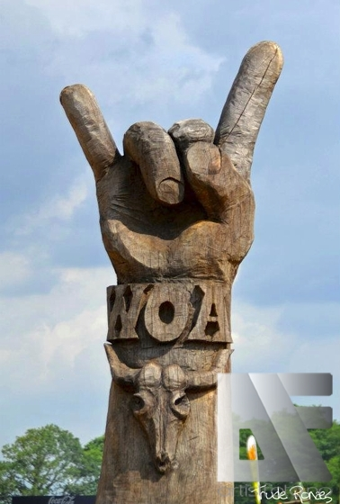 Horns up på Wacken! Foto: Trude Ronæs