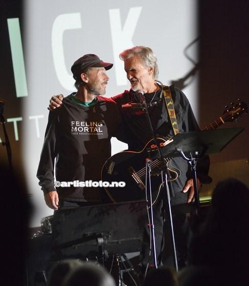 Fra venstre: Festivalsjef Svein Inge Olsen og Kris Kristoffersen