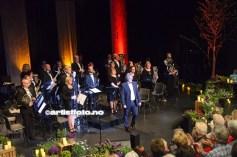 Mandal Byorkester, med Alf Willy Vestergren i front