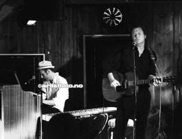 Fra venstre Gøran Grini og Paal Flaata på Sjøboden Live Scene