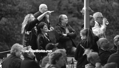 Mange rockeglade hadde møtt opp for å få med seg konserten med The Rainmakers