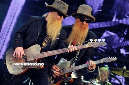 ZZ Top med Gibbon på Bass og Hill på gitar.
