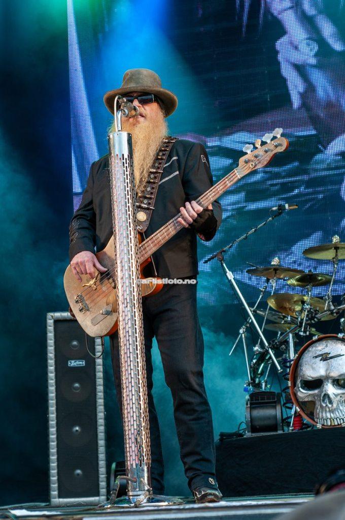 ZZ Top, Dusty Hill på Notodden Bluesfestival 2012. Foto: Svein Erik Nomeland